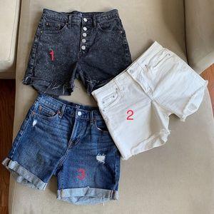 Gap Denim Shorts (3 pair bundle) Size 24/25